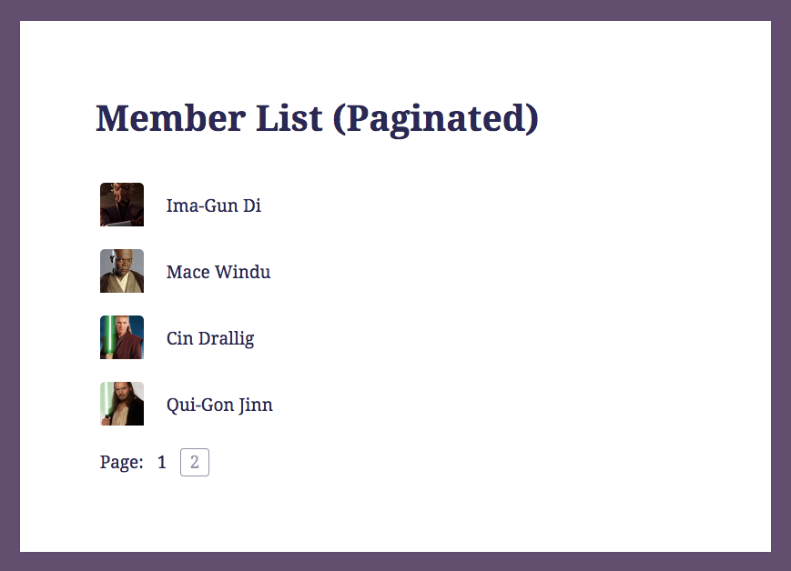 Member List (Paginated)