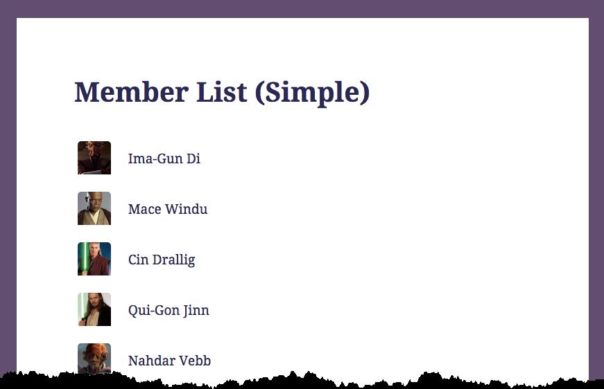 Member List (Simple)