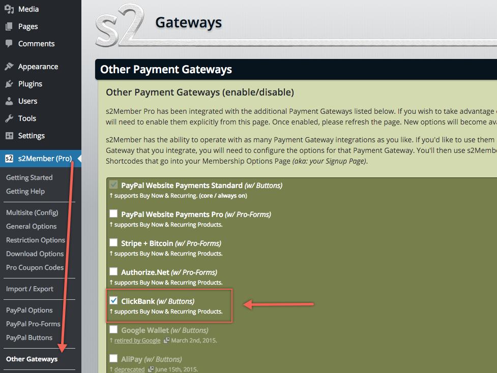 ClickBank - Other Gateways