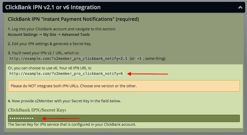 ClickBank - IPN Integration Secret Key