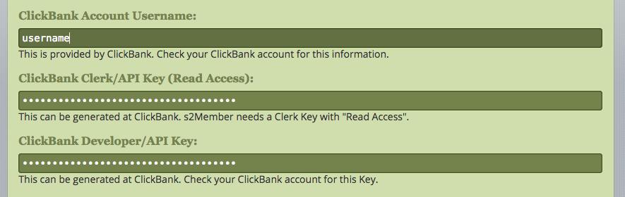 ClickBank - username