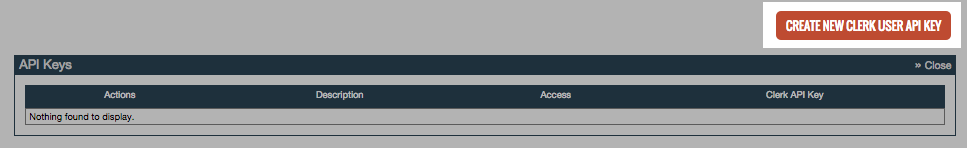 ClickBank - Edit Clerk API Key