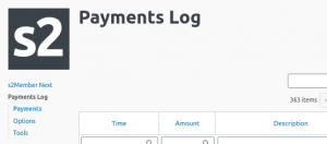Payments Log Screenshot